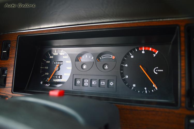 傳統式的機械指針儀表板,看起來簡單清爽,我喜歡!