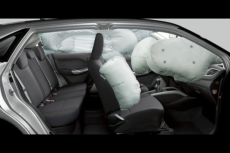Baleno單一車型全車系主被動安全標準配備六氣囊。