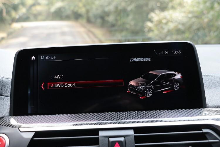 M xDrive四輪驅動系統有兩種模式可做切換。