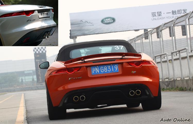 F-Type全車最性感的地方就是它的車尾,多了尾翼就太煞風景了。