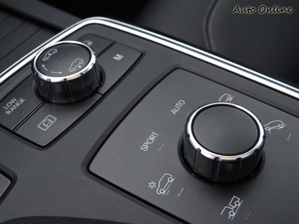 選配ON&OFFROAD系統,就多了這兩個模式選擇鈕,標示清晰易懂,不需調整時還可以降下去。