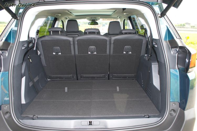行李廂容量780公升,選配的腳踢感應啟閉尾門非常靈敏。