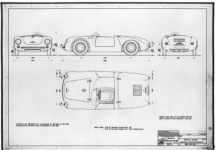 傳奇車款550 Spyder的雙座、敞篷、鋼管H型結構底盤和中置引擎後輪驅動佈局,是保時捷最具代表性的經典設計。