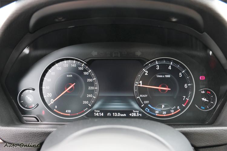 傳統指針被8.8吋多重行車模式儀錶板取代。