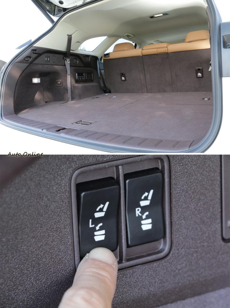 基本行李空間若是不足,簡單動動手指就能完成擴充。