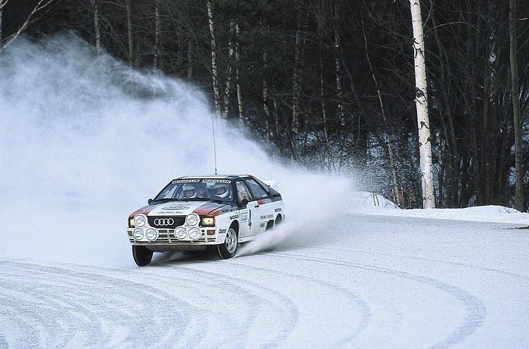 搭載四輪傳動技術的Ur quattro勢不可擋,初登場就為Audi拿下第一場WRC勝利與車廠冠軍的頭銜。