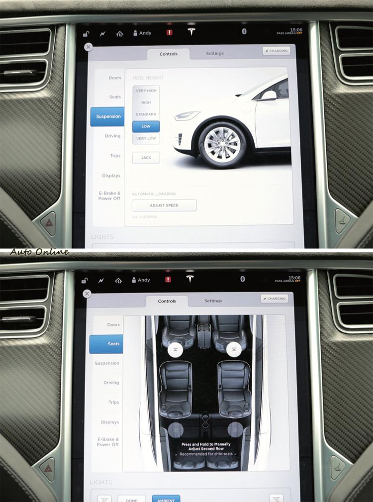 舉凡冷氣空調、音響、燈光、車身高度等都由這個類似大iPod控制。