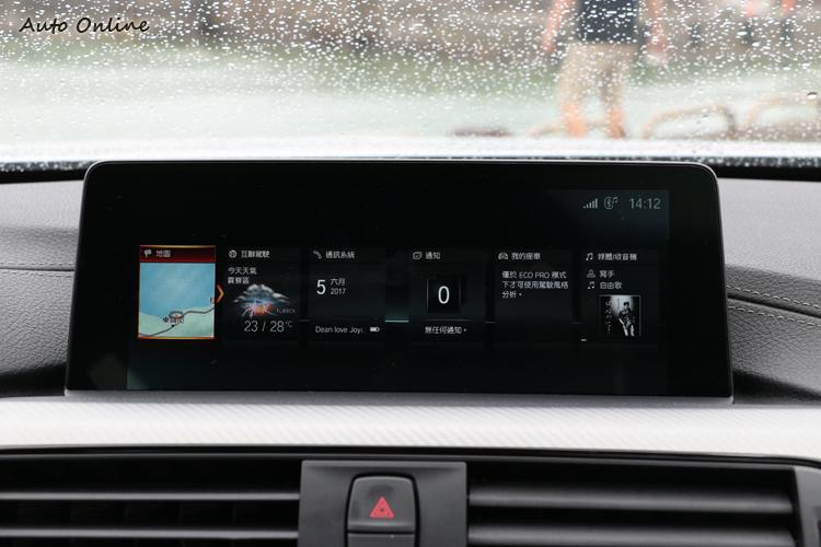 iDrive 8.8吋中控顯示幕搭載最新iDrive系統(ID6)系統介面。