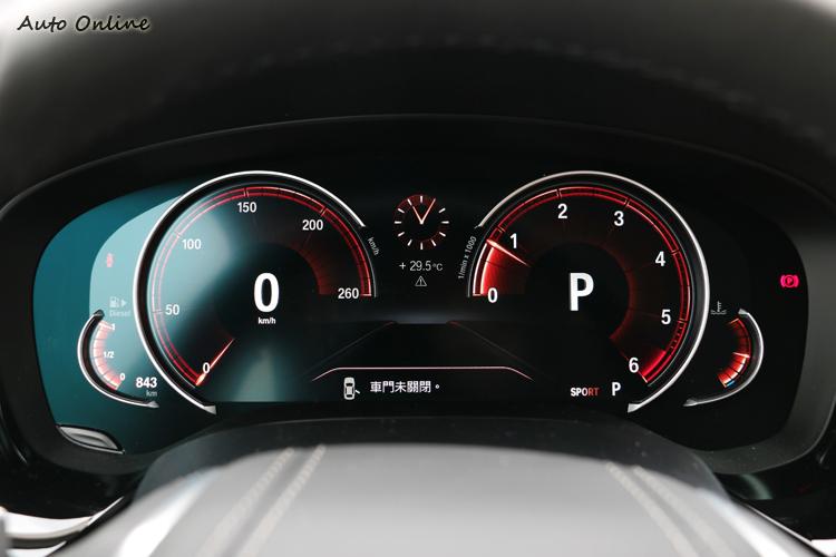 12.3吋多重模式行車儀表在不同行車模式下會有不同樣貌。