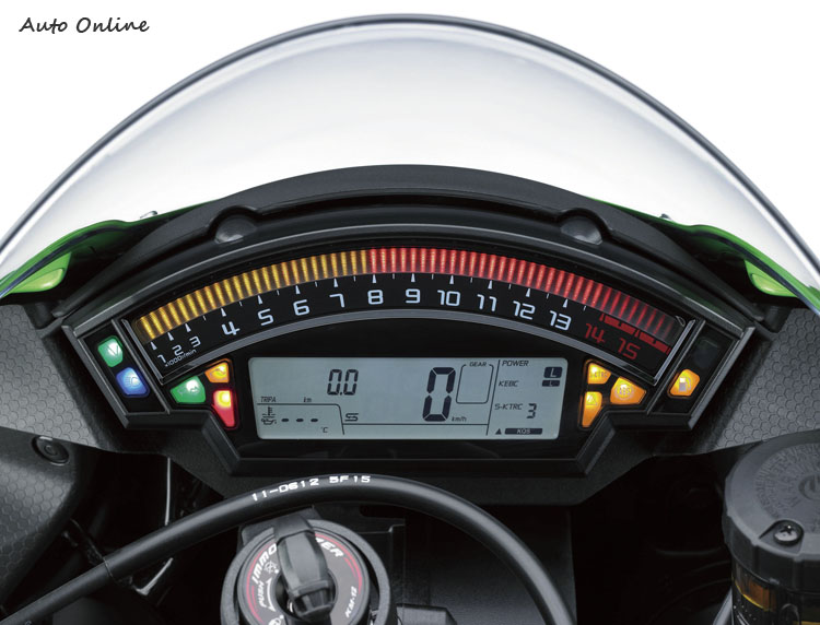 KAWASAKI 最拿手的電子控制系統,在這代Ninja ZX-10R上加入非常豐富的操控介面。