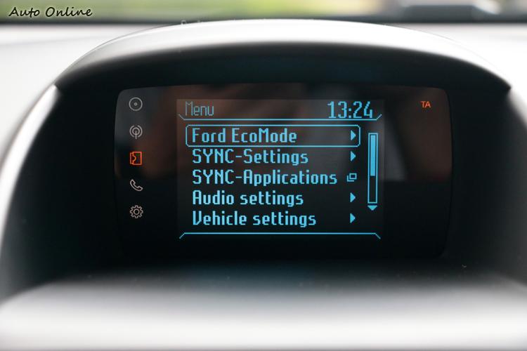New Fiesta增加EcoMode模式,其就是教導消費者如何節能開車。