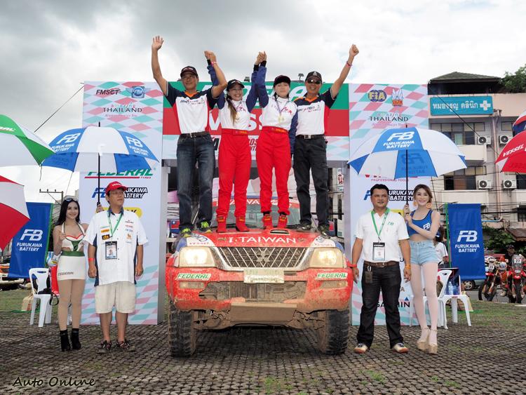 經過六天努力,i.TAIWAN RALLY TEAM奪得女子組冠軍。