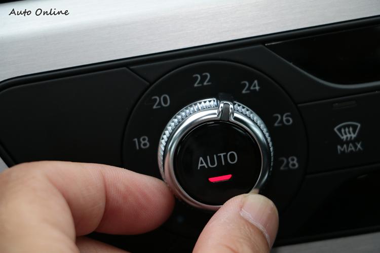 Coupe空調系統為單區恆溫空調,在Sportback車型才有三區恆溫空調。