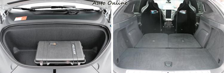 行李廂部分,提供同級車最佳的內部置物空間,如果還不夠放,車頭備有額外行李廂置物容積。