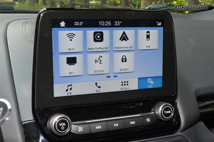 8吋大螢幕內建同級唯一支援Apple CarPlay的SYNC 3系統,終於擺脫陽春臭名。