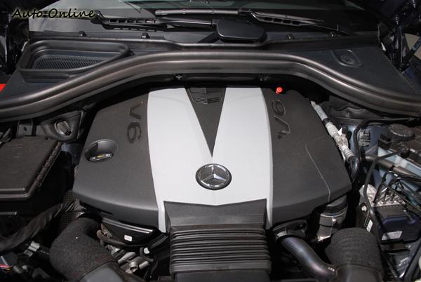 ML350 BlueTEC在動力上搭載一顆3.0升的BlueTEC柴油引擎,最大馬力為258hp/3600rpm與最大扭力620Nm/1600~2400rpm。