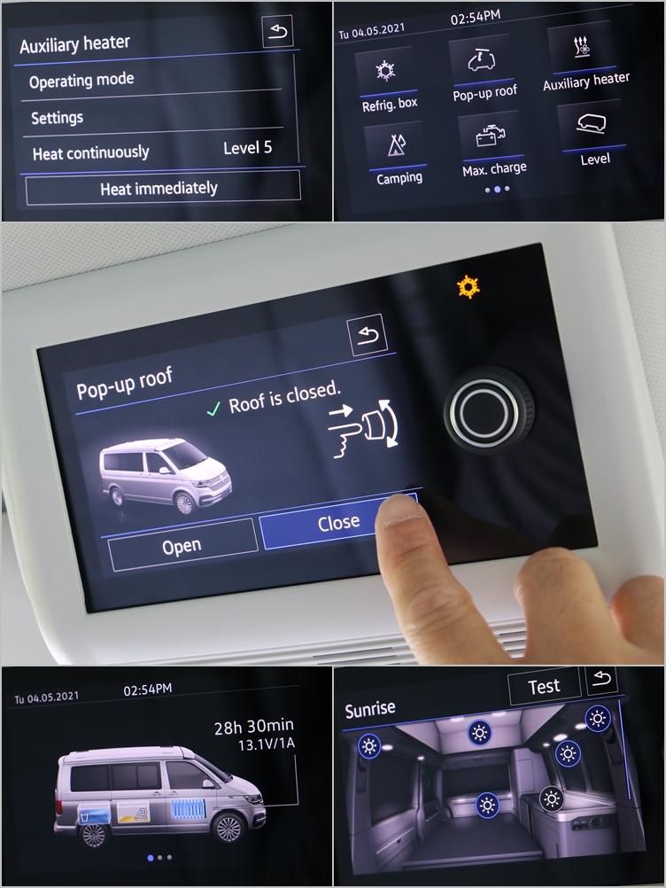 多功能中央控制面板升級為彩色觸控螢幕,雖然並無中文化,不過圖像化選單設計很容易就能上手。