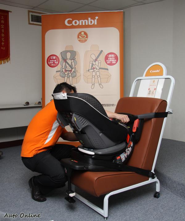 對於安全增高墊同樣也得檢驗,檢驗重點是發生碰撞時坐墊不會發生滑動現象。