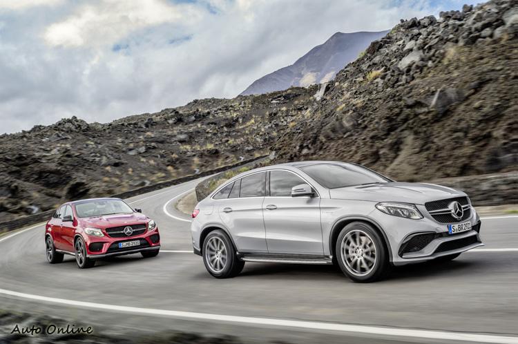 這兩款AMG不一樣,前面是Mercedes-AMG GLE 63 Coupe,後方是Mercedes Benz GLE 450 AMG Coupe,看出名稱差異了嗎?