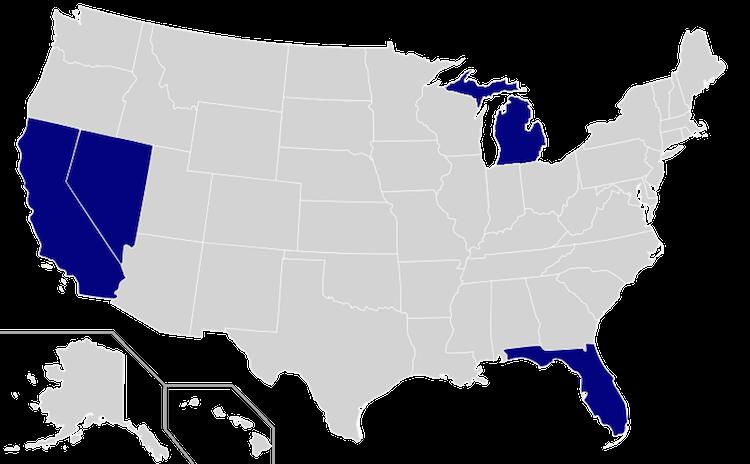 發給Google無人駕駛車行駛牌照的五個州
