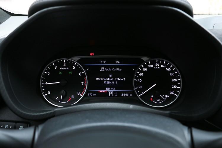 雙圓儀表板中間有多功能顯示幕。