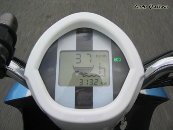 在ECO模式下,時速37公里差不多就是平地的極速了。