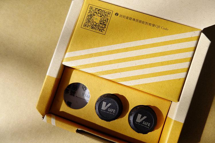 基本款的盒內會有兩顆感應器,至於三輪或四輪的車主也可以另外加購感感應器,也可依照個人需求選購包含兩支金屬氣嘴的產品。