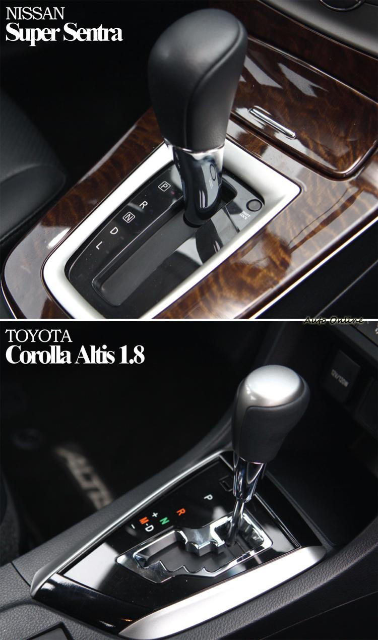 兩者同為CVT無段變速箱,不過Sentra沒有手自排模式。
