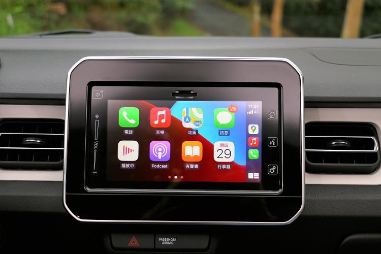 原廠標準配備音響系統支援Apple CarPlay。