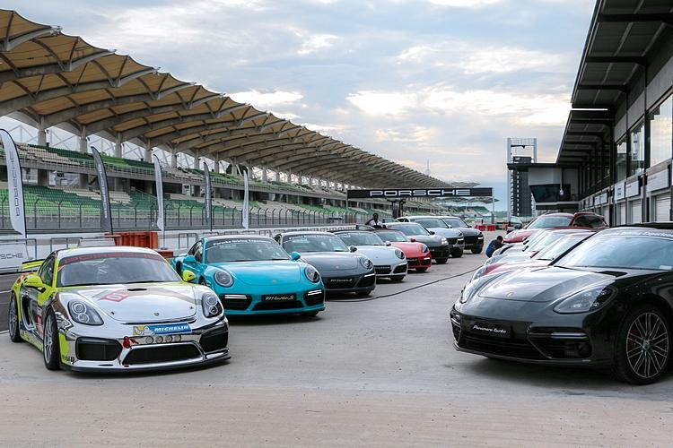 Porsche各款車型都出現在本次MDA活動中,其中Cayman GT4 Clubsport更提供試乘體驗。