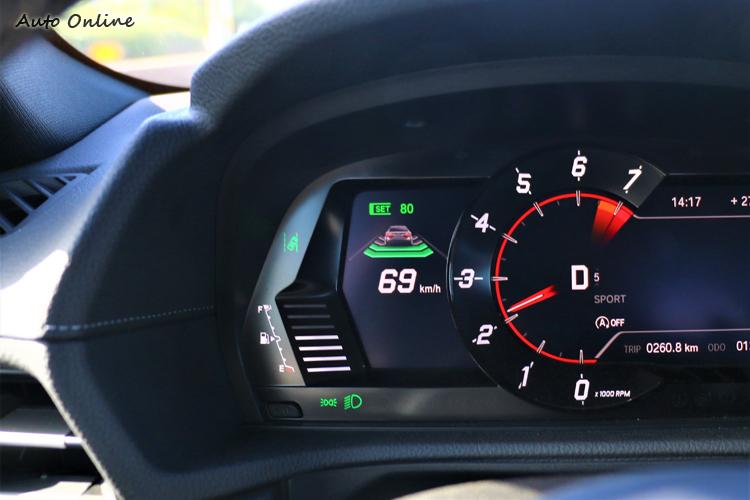 全速域的主動跟車系統,分擔了駕駛者高速公路巡航時的壓力。