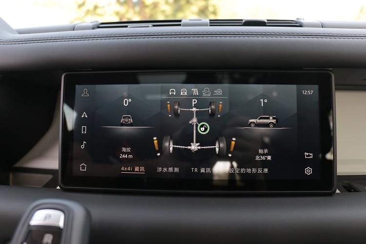 全地形反應模式可從中控台上方螢幕圖示監控,快速選擇所需要的越野模式與車輛目前狀態。