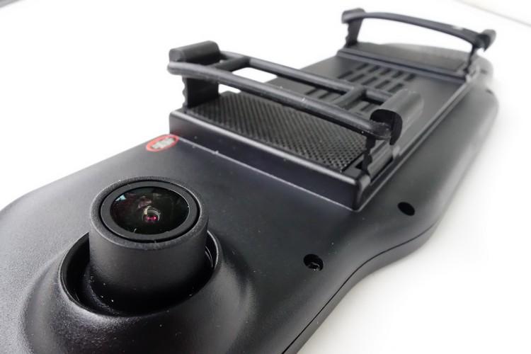 彈性膠條距離不足也過短,薄式後視鏡的車款才綁得上,有防眩功能的可能難以固定。