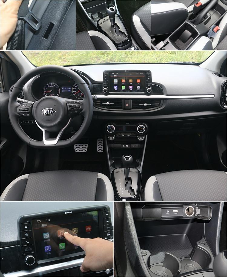(1)後座兩側提供可固定安全帶扣環的插孔,避免碰撞產生噪音。(2)四速自排的表現超越預期,進一步提昇了這款車的行路品質。(3)車內置物空間與一般掀背車差不多,但多了中央扶手的設計。(4)懸浮設計的7吋多媒體系統,還可選配倒車顯影(+7200元)和衛星導航系統(+10000元)。(5)杯座前還有能夠置放手機的小平台,實際上此處在國外銷售版本為無線充電區,可惜該配備國內車型並未納入。