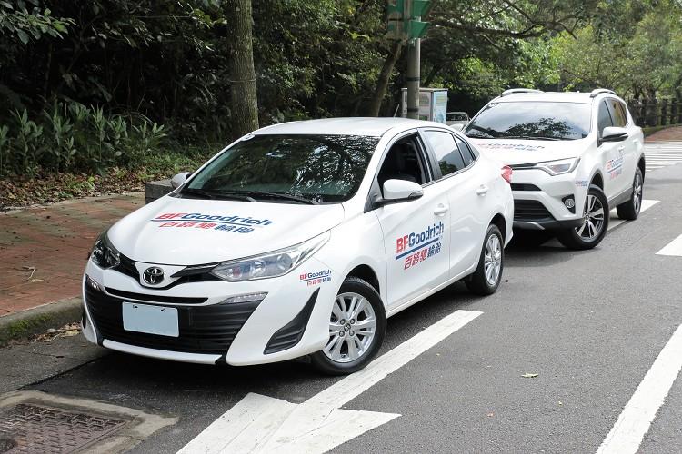 這次廠商特別提供Advantage T/A Drive與Advantage T/A SUV兩款胎讓媒體體驗,分別裝載在Toyota Vios與Toyota RAV4車款上。