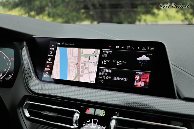 iDrive介面是最新的7.0系統,不需線材可無線連接Apple CarPlay。