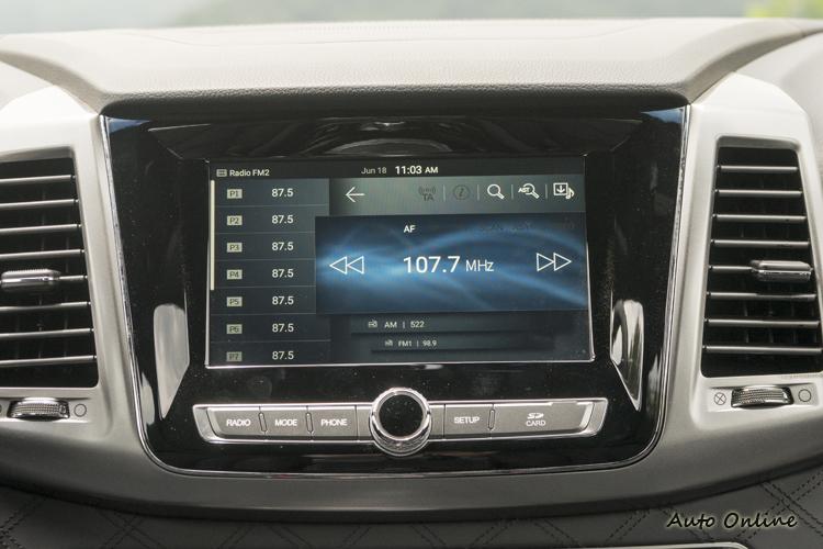 八吋多功能資訊整合觸控螢幕。
