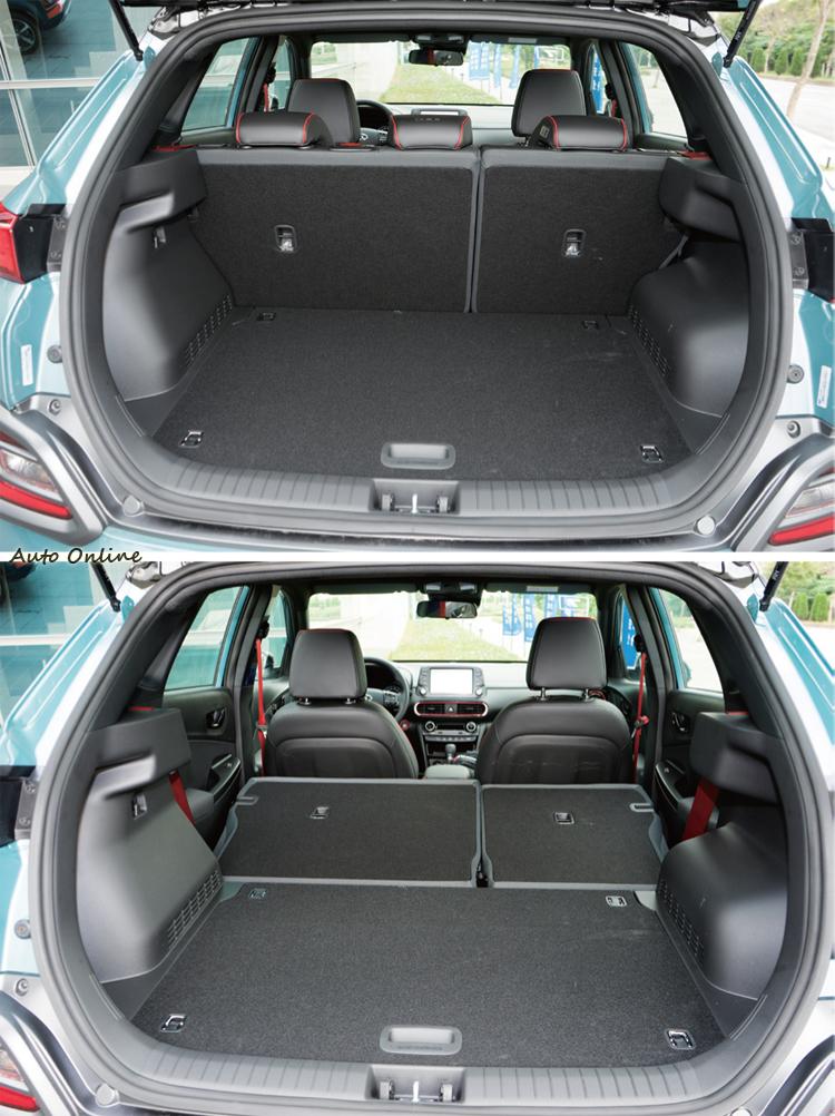361公升的行李廂空間與1143公升的後座放倒後空間都在同級平均水準之上。