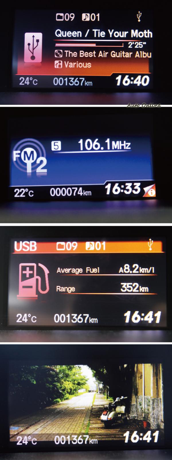 i-MID顯示幕可提供音響、油耗資訊、時鐘和設定車輛功能,而且是全車系的標準配備。