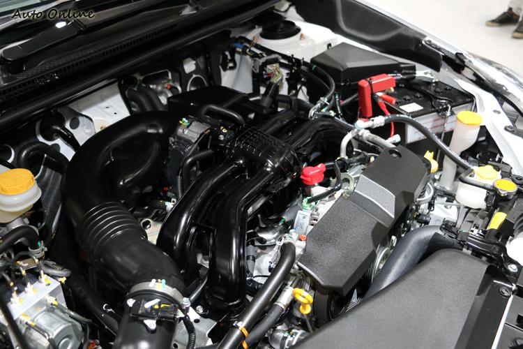 2.0升水平對臥引擎,長衝程引擎重視中低速扭力的表現。