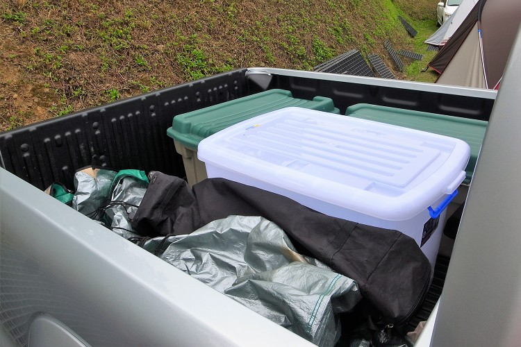 以我的經驗我會準備最大的置物箱來收納,能避免碰到下雨物品淋濕又或者在高速公路上東西飛走。
