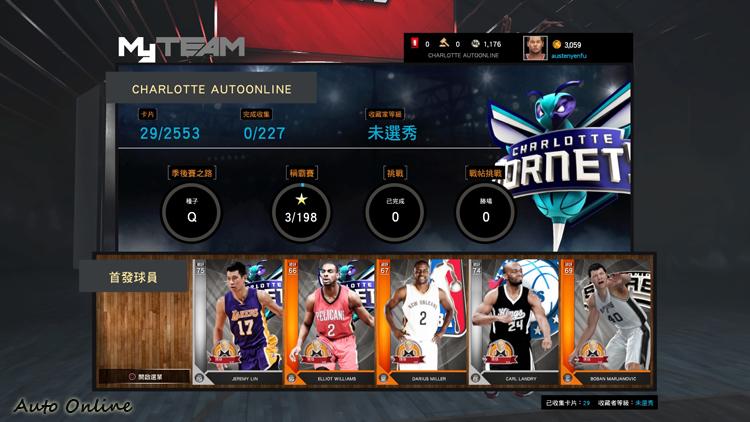 MyTEAM模式是以球員卡的形式組隊,每個球員都有出場合約數,遊戲時要特別注意。