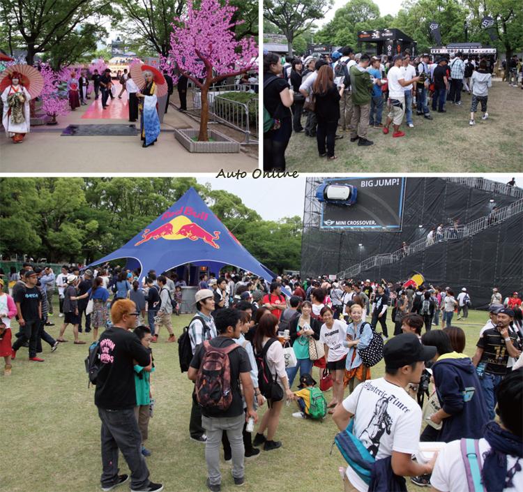 日本對運動比賽非常樂情,現在就像是一場嘉年華會般的熱鬧,就算買紀念品要等上一個小時也甘願。