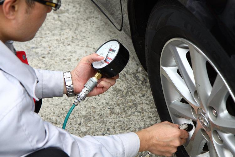 出發前與中途點都確認冷胎時的胎壓,所有車輛要求與原廠規定相同。
