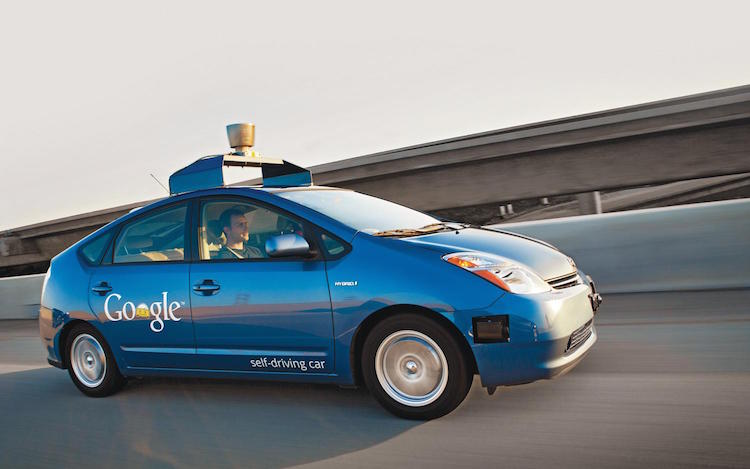 作為Google無人駕駛測試車的Toyota Prius