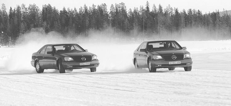 1994年M-Benz邀請全球媒體前往瑞典北極圈內一處結冰湖面上試駕體驗當時稱為「Dynamic Handling System」的最新科技,這是ESP系統首度公開在世人面前,該系統也讓所有媒體大為驚豔。隔年ESP成為CL-Class、SL-Class、S-Class等旗艦車型的選配項目,並在1999年之後成為M-Benz所有車系的標準配備。
