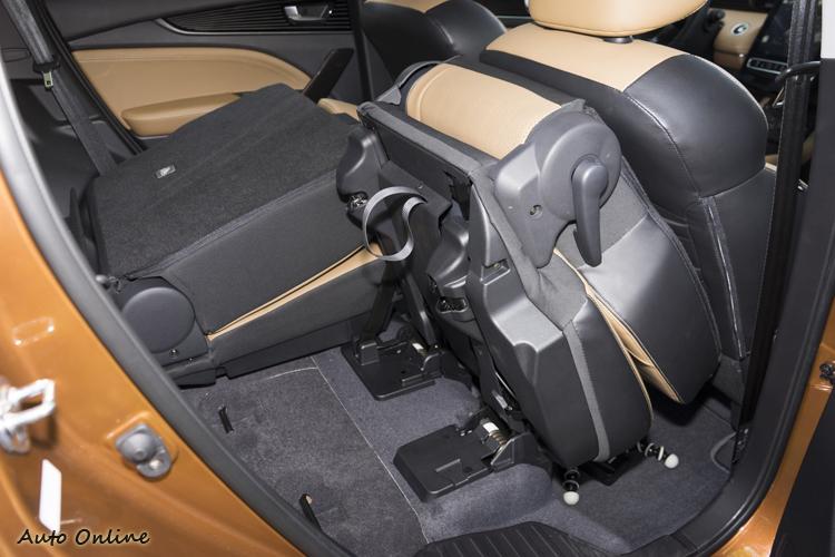 第二排座椅可從後方或中控螢幕一鍵輕鬆前翻。