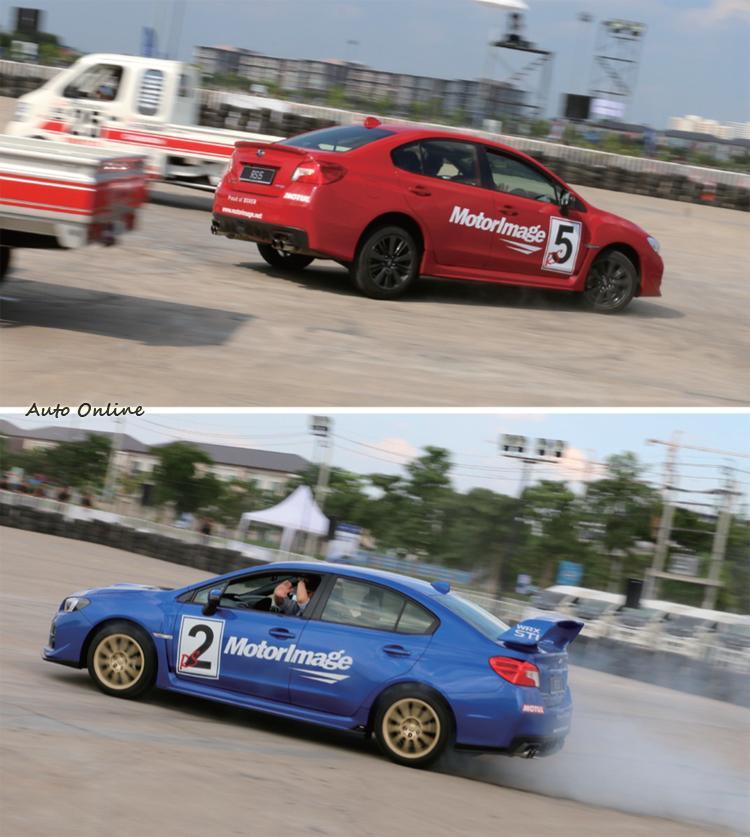 雙車間J-Turn或者大玩甩尾秀,近距離觀賞有著說不出來的震撼感。