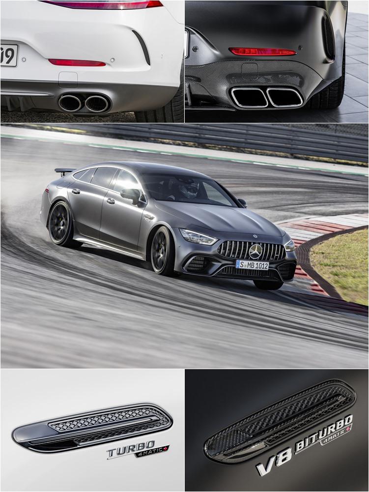 全車系都標配AMG Performance 4MATIC+全輪傳動設計,S版並且特地為喜愛甩尾的駕駛保留了100%後輪傳動的Drift Mode,依照六缸或八缸車型的不同,在配備上有顯著的差異。