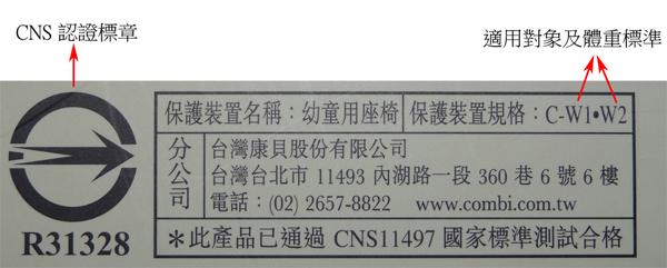 在台灣上架販售的安全座椅,均須通過CNS11497的檢驗。